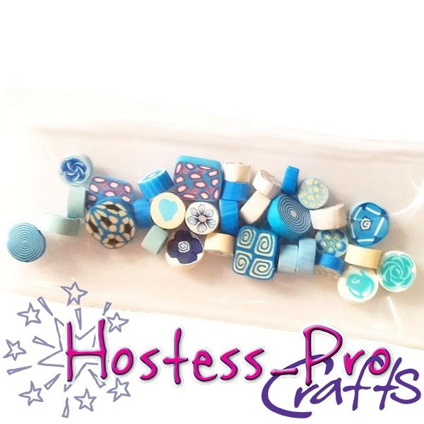 Polymer Clay Millifiori Teal Blue