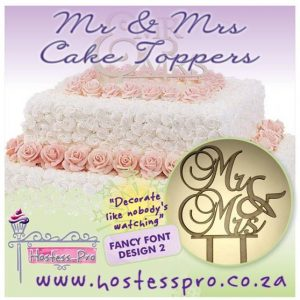 Mr and Mrs Cake Topper - Fancy Font