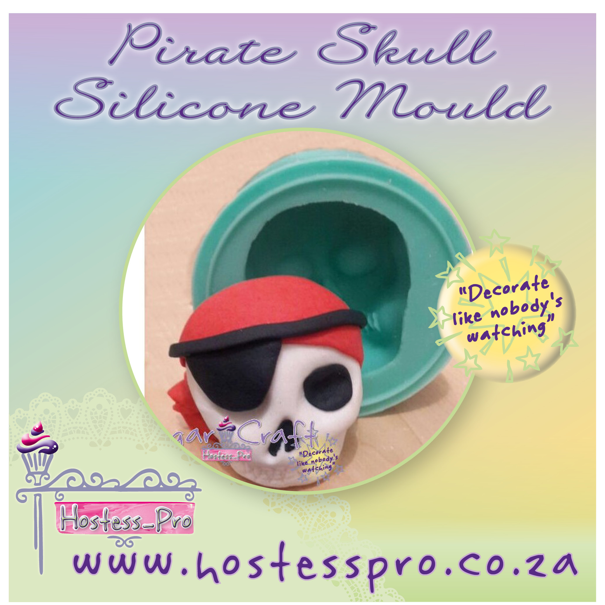 Pirate Skull Silicone Mould