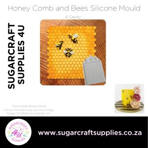 Honey Comb and Bees Silicone Mould