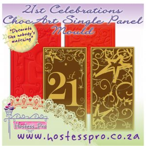 21st Celebrations ChocArt Single Panel Mould