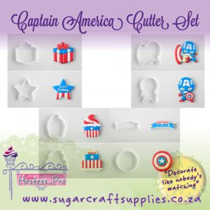Captain America Cookie Cutter Set