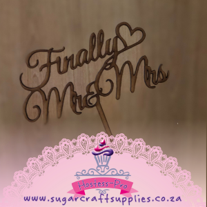 Cake Topper | Finally Mr & Mrs