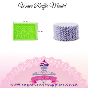 Wave Ruffle Vertical   Silicone Mould