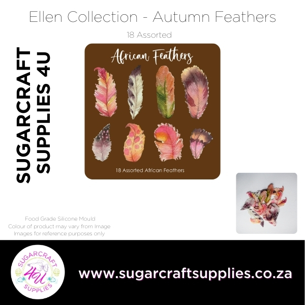 Wafer Paper Feathers - African