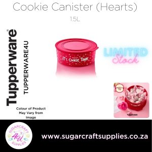 Round Cookie Canister with Hearts
